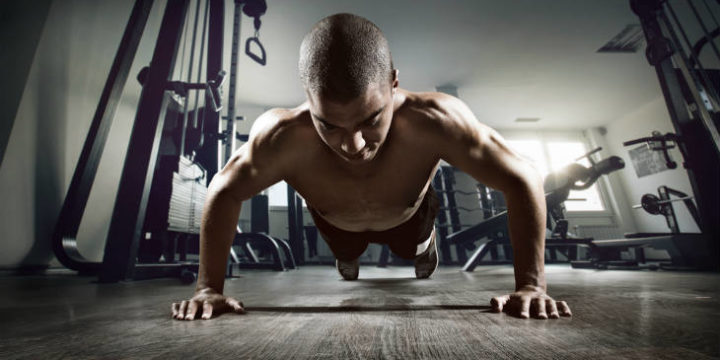 What happens to that guy who doesn't do any weightlifting but only push-ups and crunches?