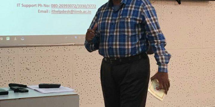 Importance of Fitness to Startup Entrepreneurs at IIM Bangalor