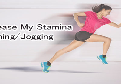 How can I increase my stamina for running/jogging as I am overweight and can't run without taking break after half kilometer?